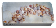 Sea Shells 4 Portable Battery Charger by Rebecca Cozart