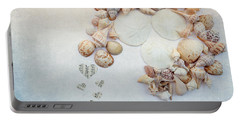 Sea Shells 5 Portable Battery Charger by Rebecca Cozart