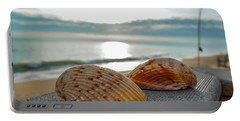 Sea Shells Portable Battery Charger by Josy Cue