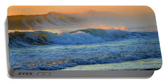 Sea Smoke Sunrise Portable Battery Charger by Dianne Cowen