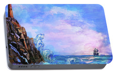 Portable Battery Charger featuring the painting Sea Stories 2  by Andrzej Szczerski