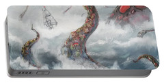 Portable Battery Charger featuring the painting Sea Stories by Mariusz Zawadzki