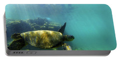 Portable Battery Charger featuring the photograph Sea Turtle #5 by Anthony Jones