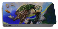 Sea Turtle Acrylic Painting Portable Battery Charger
