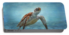 Sea Turtle Portable Battery Charger by David Stribbling