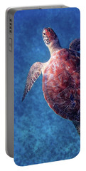 Portable Battery Charger featuring the photograph Sea Turtle by Lars Lentz