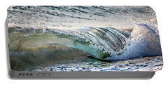 Sea Turtles In The Waves Portable Battery Charger by Barbara Chichester