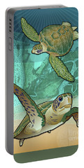 Sea Turtles Near Beaufort, Sc Portable Battery Charger