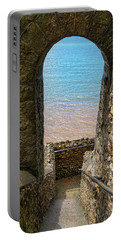 Portable Battery Charger featuring the photograph Sea View Arch by Scott Carruthers