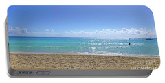 Portable Battery Charger featuring the photograph Sea View M2 by Francesca Mackenney