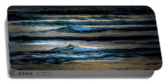 Sea Waves After Sunset Portable Battery Charger