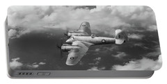 Portable Battery Charger featuring the photograph Seac Beaufighter Bw Version by Gary Eason