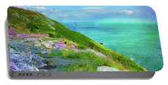 Seacoast At Howth Portable Battery Charger by Judi Bagwell