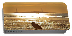 Seagull Admiring Thacher Island Gloucester Ma Good Harbor Beach Portable Battery Charger