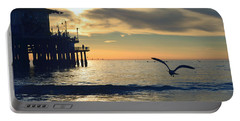 Seagull Pier Sunrise Seascape C2 Portable Battery Charger