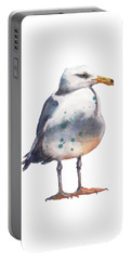Seagull Print Portable Battery Charger by Alison Fennell