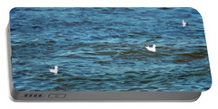 Seagulls And Water Art Portable Battery Charger