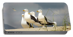 Seagulls At The Beach Portable Battery Charger
