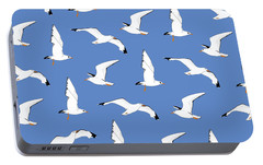 Seagulls Gathering At The Cricket Portable Battery Charger by Elizabeth Tuck