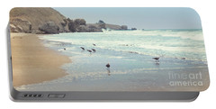 Seagulls In The Surf Portable Battery Charger