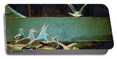 Seagulls On The Beach Portable Battery Charger