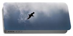 Portable Battery Charger featuring the photograph Seagull's Sky 1 by Jouko Lehto