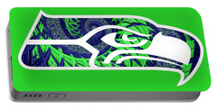 Seahawks Fractal Portable Battery Charger