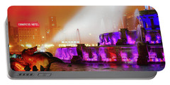 Seahorse In The Fog - Buckingham Fountain - Chicago Portable Battery Charger