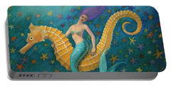 Seahorse Mermaid Portable Battery Charger by Sue Halstenberg
