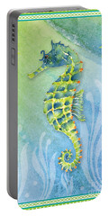 Seahorse Blue Green Portable Battery Charger