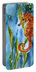 Seahorse With Sea Grass Portable Battery Charger