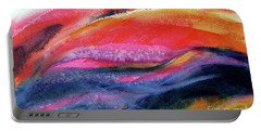 Portable Battery Charger featuring the painting Seams Of Color by Kathy Braud