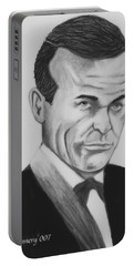 Sean Connery Pencil Drawing Digital Art Portable Battery Charger