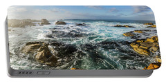 Seas Of The Wild West Coast Of Tasmania Portable Battery Charger
