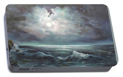 Portable Battery Charger featuring the painting Moonlit  by Luczay