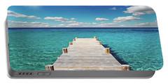 Seascape Sunrise Treasure Coast Florida Pier C6 Portable Battery Charger