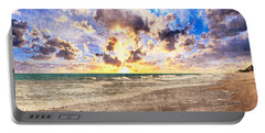 Seascape Sunset Impressionist Digital Painting B7 Portable Battery Charger