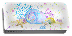Seashells And Coral Watercolor Portable Battery Charger