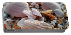 Portable Battery Charger featuring the photograph Seashells And Pebbles by Robert Banach