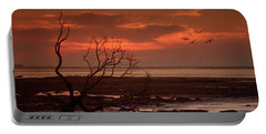 Seashore At Dawn Portable Battery Charger