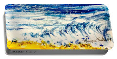 Portable Battery Charger featuring the painting Seashore  by Monique Faella