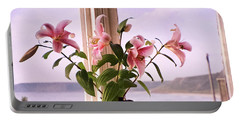 Seaside Lilies Portable Battery Charger by Terri Waters