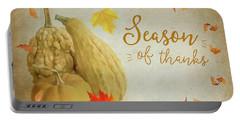 Season Of Thanks Portable Battery Charger