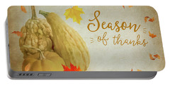 Season Of Thanks Portable Battery Charger