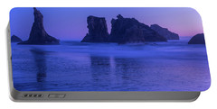 Seastack Sunset In Bandon Portable Battery Charger
