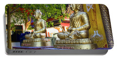 Seated Buddhas Portable Battery Charger