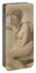 Seated Female Nude Portable Battery Charger