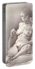 Seated Figure No. 6 Portable Battery Charger