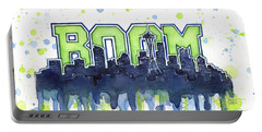 Seattle 12th Man Legion Of Boom Watercolor Portable Battery Charger
