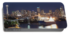 Seattle At Night Portable Battery Charger